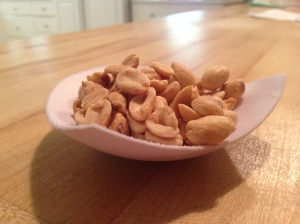 insert peanuts