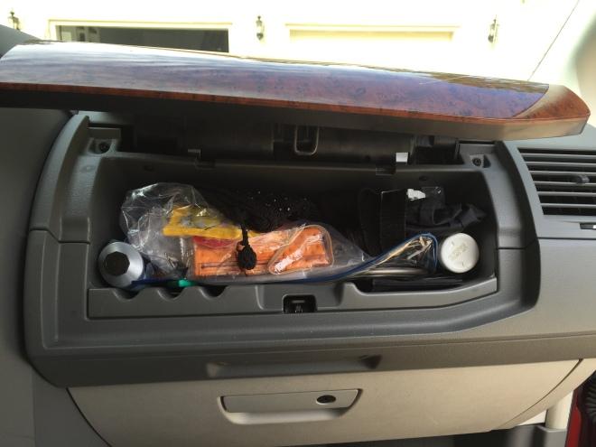 glove compartment