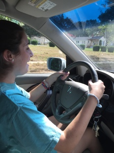 Lucy driving