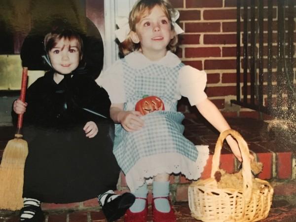 DJ and Stephanie, Halloween, many years ago